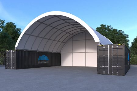 40 x 40ft Container Dome (12 X 12M) Incl Back Wall