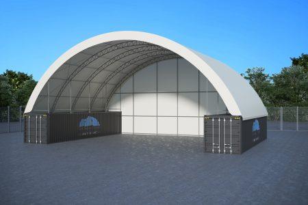 60 x 40ft DOUBLE TRUSS DOME (18 X 12M)