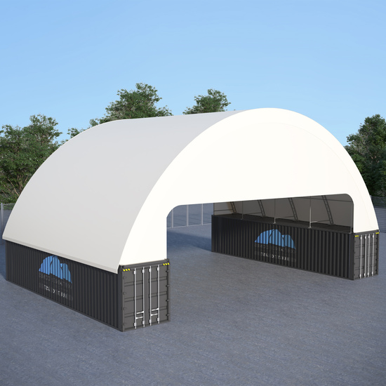 Large Double Truss Domes
